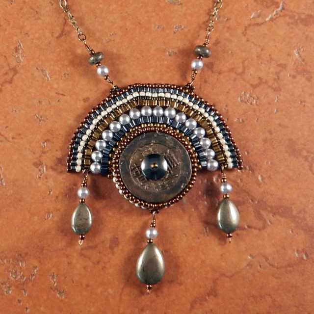 Coin Fan Necklace | Sea Of Beads
